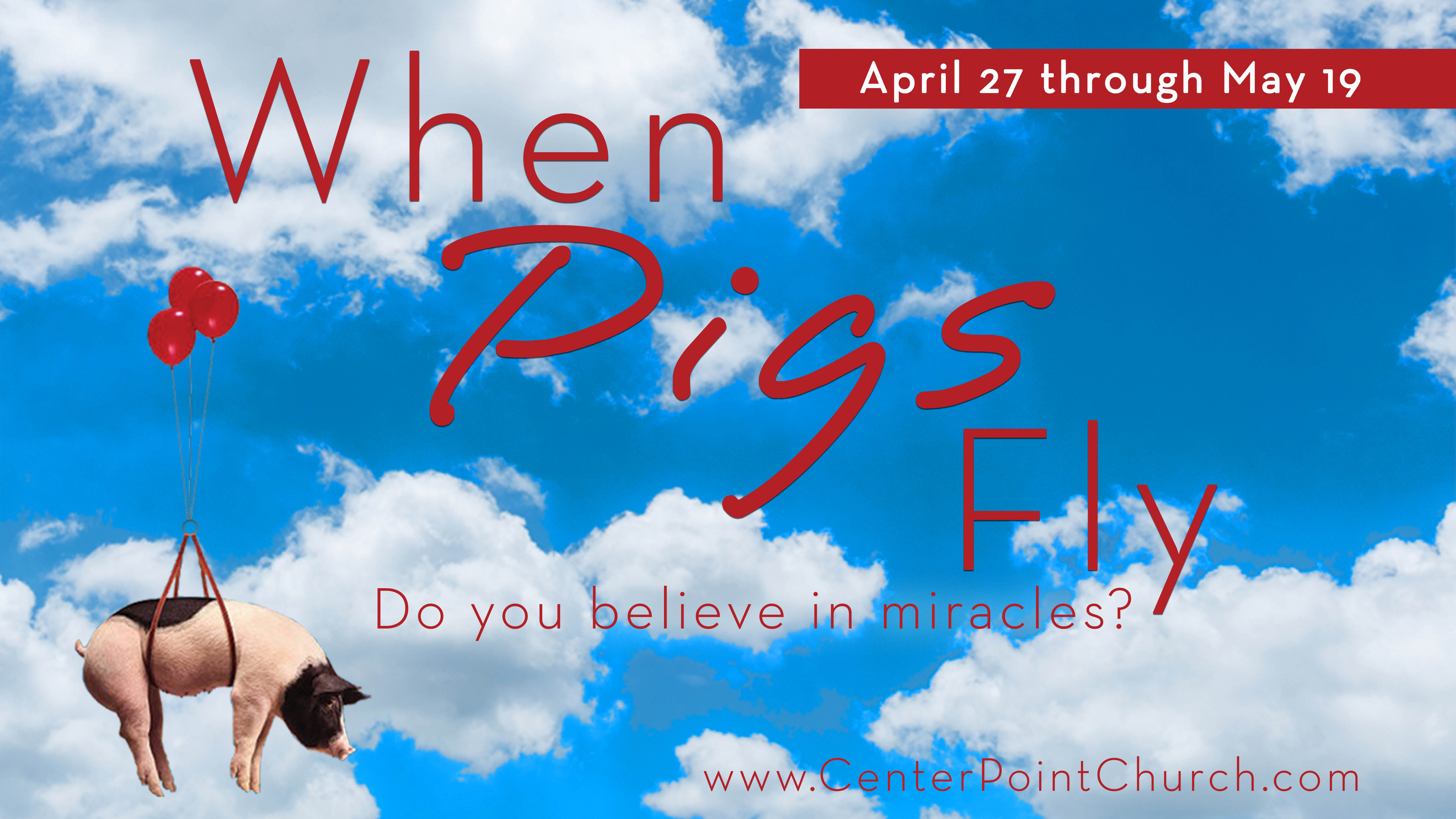 When Pigs Fly | Week 3